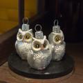 Mini. White Owls (set of 3)