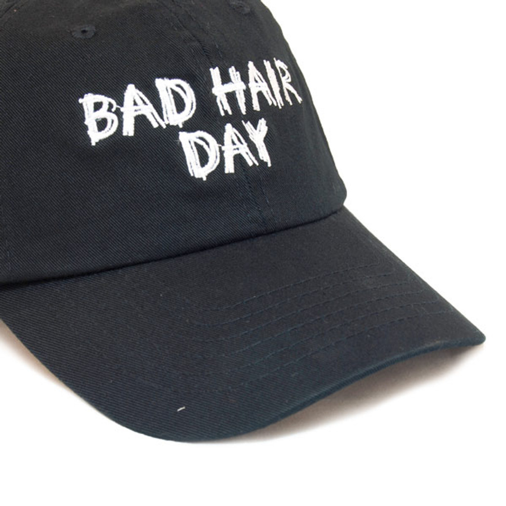 Dorfman Pacific - Bad Hair Day Script Baseball Cap - Closeup