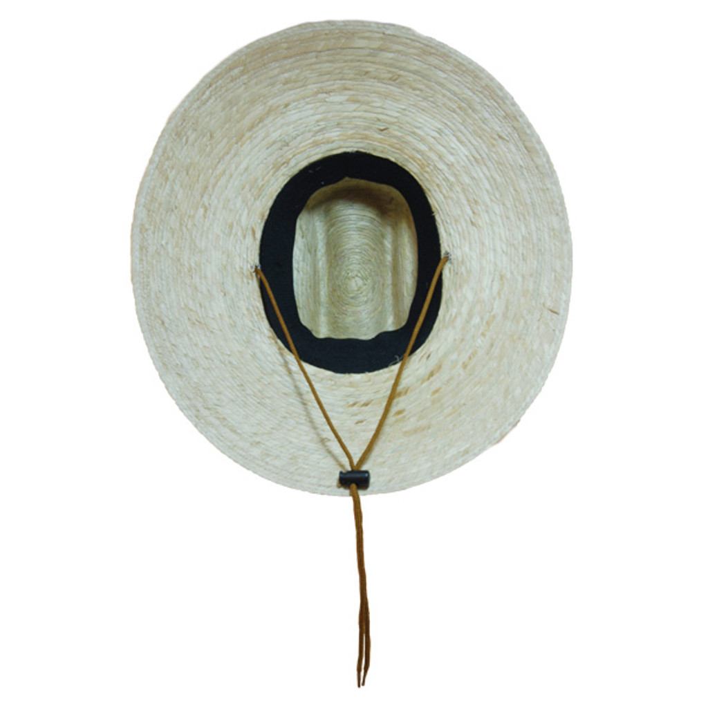 Jacobson- Straw Lifeguard Sun Hat in Natural - Bottom View