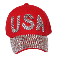 Something Special - Red USA Bedazzle Jewel Cap