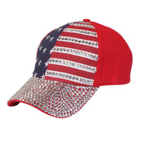 Something Special - Red American Flag Jewel Cap