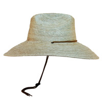 Jacobson- Straw Lifeguard Sun Hat in Natural - Side View