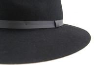 Jeanne Simmons - Wool Felt Floppy Fedora Hat