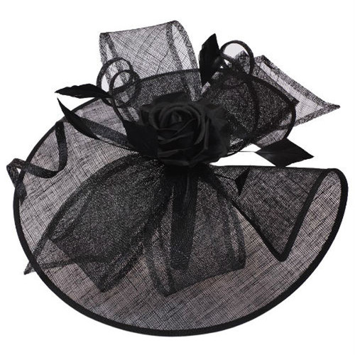 Something Special - Wide Brim Fascinator Hat with Rose
