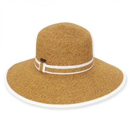 Sun 'N' Sand - White Helena Paper Braid Sun Hat
