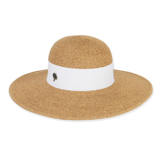 Sun 'N' Sand - Natural Innix Two Tone Paper Braid Sun Hat