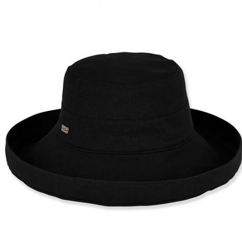 Sun 'N' Sand - Black Belmont Cotton Up Brim Hat