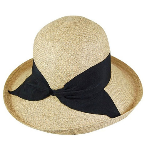 Dynamic Asia - Fine Braid Raffia Kettle Hat