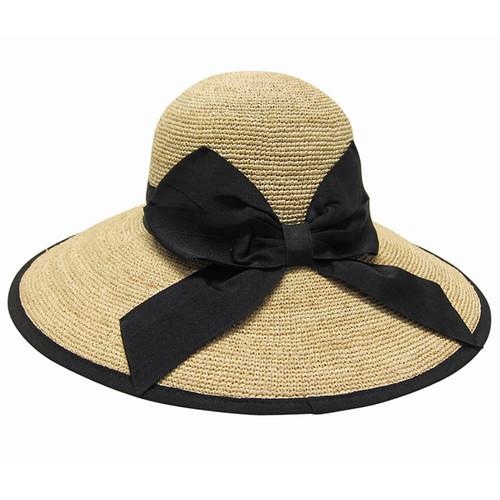 Boardwalk Style - Fine Crochet Raffia Resort Hat Back
