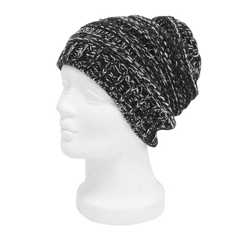 Downtown Style - Marled Stretchy Knit Beanie Black Main