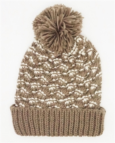 Downtown Style - Two Toned Pom Beanie
