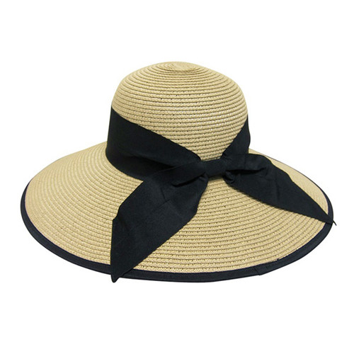 Boardwalk Style - Resort Hat with Black Bow