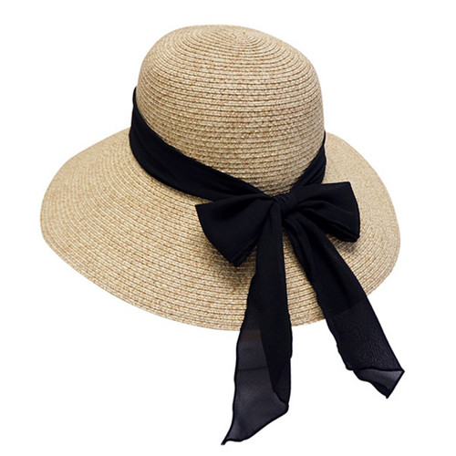 Boardwalk Style - Floppy Sun Hat With Black Sash