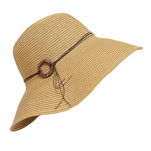 Boardwalk Style - Floppy Sun Hat With Coconut Ring