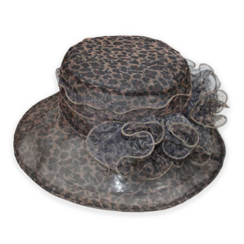 "Jeanne Simmons - 4.75"" Brim Poly Brown Hat"