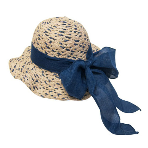 Boardwalk Style - Girls Raffia Straw Sun Hat