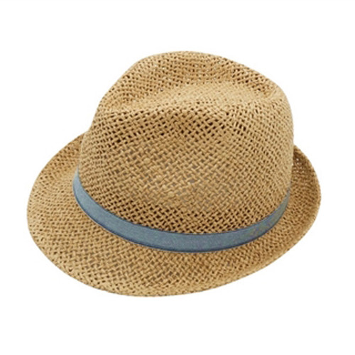 Boardwalk Style - Kid's Handwoven Straw Fedora