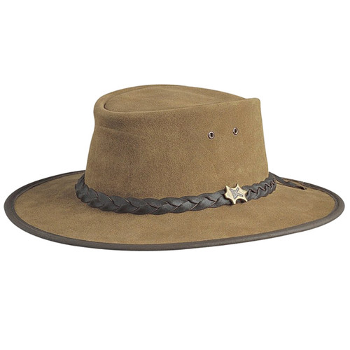 Conner - Bark Bush Walker Suede Leather Hat