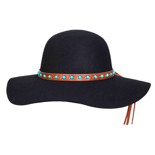 Conner - 1970 Floppy Wool Hat in Black - Full View
