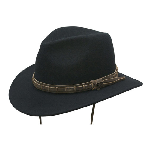 Conner - Country Outdoor Hat in Black - Full View
