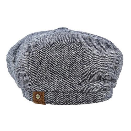 Stetson - Hatteras Silk Messenger Boy Cap in Black - Back View