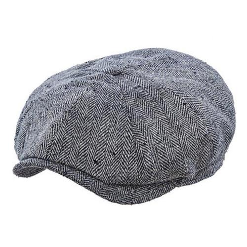 Stetson - Hatteras Silk Messenger Boy Cap in Black - Full View