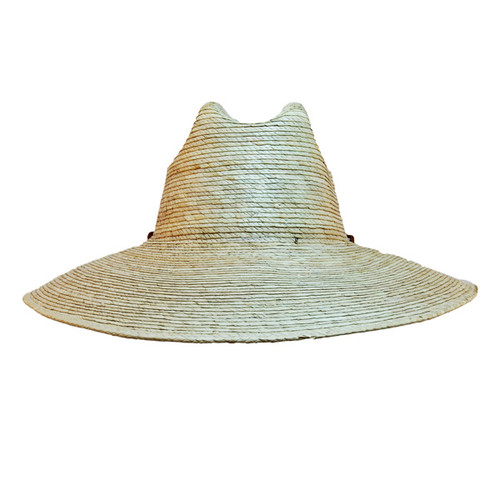 Jacobson- Straw Lifeguard Sun Hat in Natural - Front View
