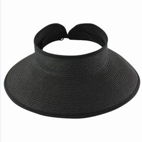 California Hat Company - Toyo Roll Up Visor  Black
