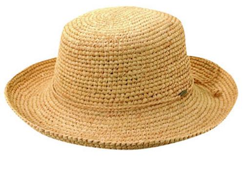 Scala - Crocheted Raffia Upbrim Hat