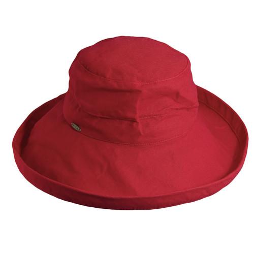 Scala - Cotton Canvas Upbrim - Red