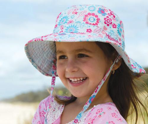 Girls Happy Flower Hat