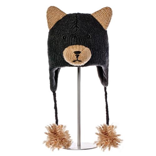 Knitwits - Babu the Black Bear Hat