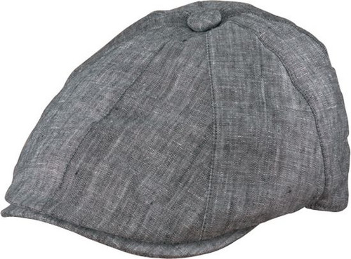 Henschel - Charcoal Linen Newsboy Cap