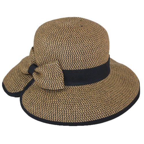 Jeanne Simmons - Brown Tweed Split Brim