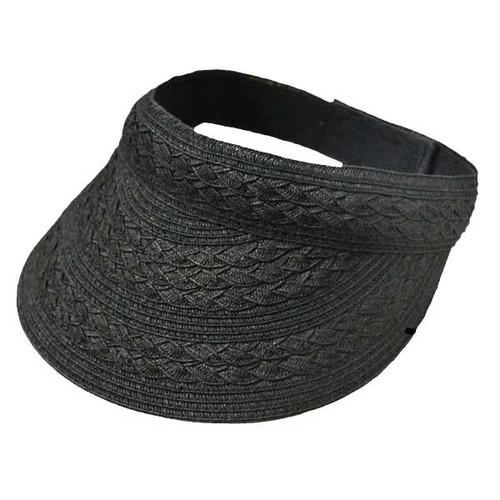 Jeanne Simmons - Black Paper Braid Visor