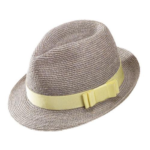 Helen Kaminski - Avara Eclipse Sherbert Raffia Fedora Hat