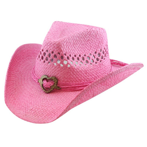 California Hat Company - Pink Cowboy Hat with Heart