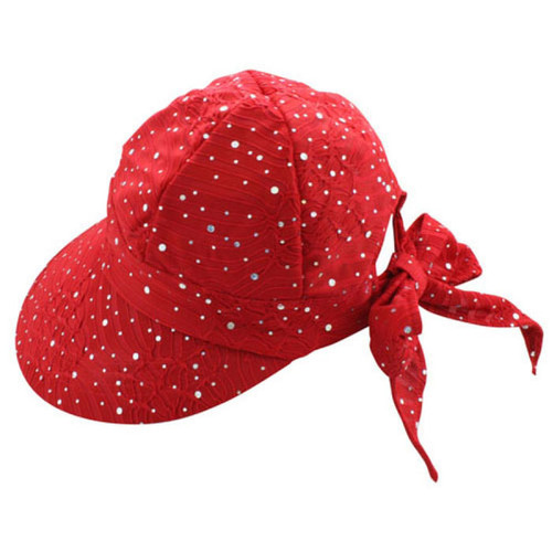 California Hat Company - Red Sparkle Scoop Hat