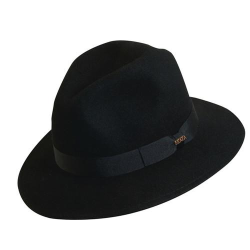 Scala - Black Crushable Wool Felt Safari Hat