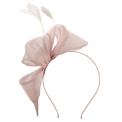 Scala - Pink Sinamay Headband Fascinator