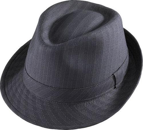 Henschel - Pinstripe Stingy Brim Fedora Hat