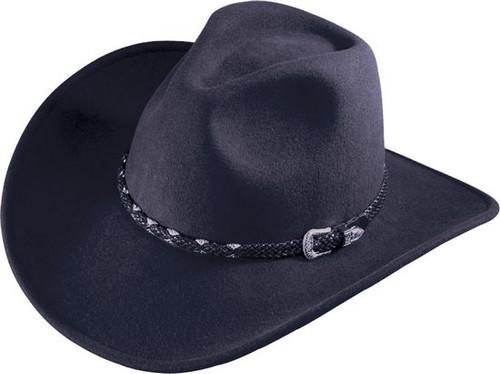 Henschel - Black Wool Felt Walker Hat
