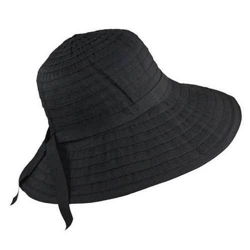 Jeanne Simmons - Black Slanted Bucket Hat