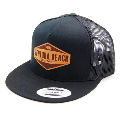 Hats Unlimited - Black Ventura Beach Trucker Snapback