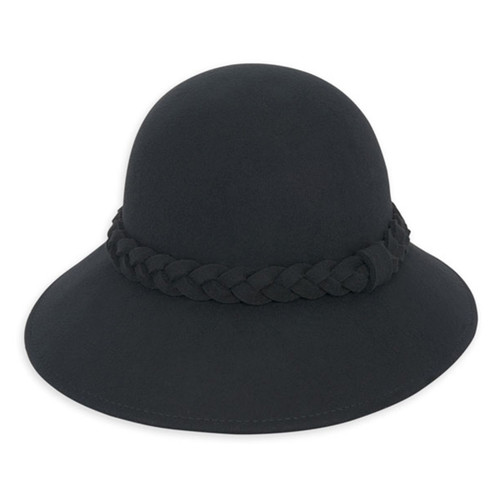 Adora - Black Fayne Wool Felt Bucket Hat