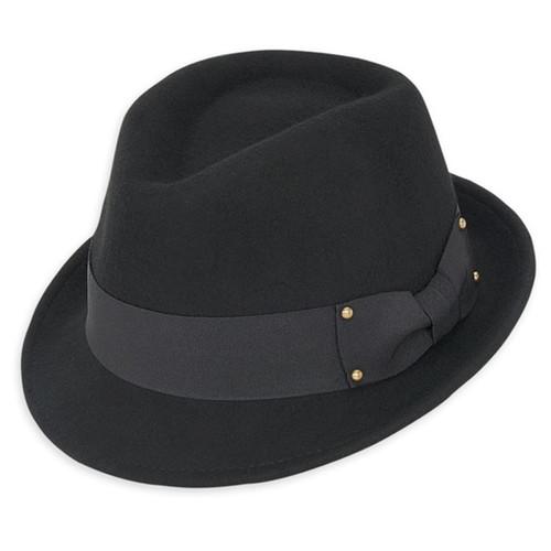 Adora - Ilse Black Felt Fedora Hat