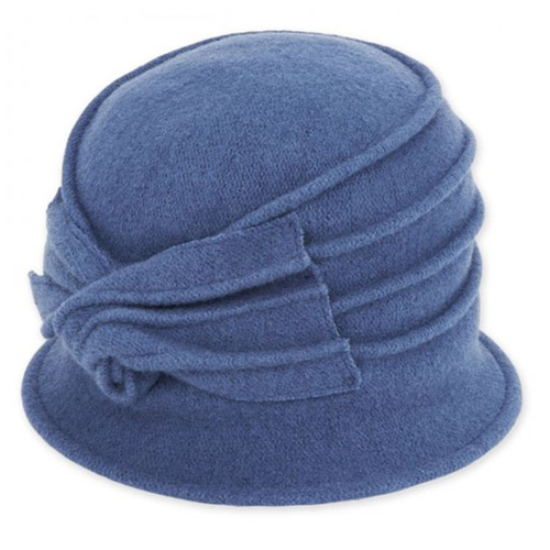Adora - Blue Idona Soft Wool Cloche Hat