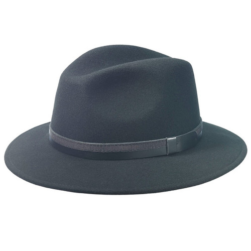 TLS Stefeno - Black Wool Felt Safari Hat