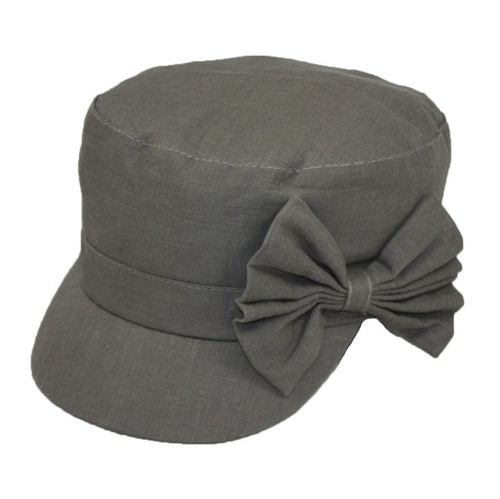 Jeanne Simmons - Olive Military Cap with Bow