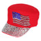 Something Special - Red Jewel Cap with American Flag
